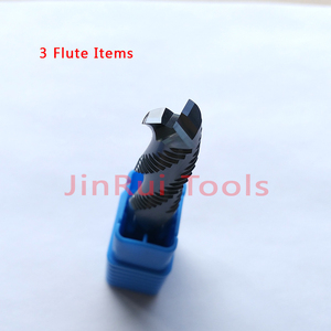 Image 4 - 4mm,6mm,8mm,10mm,12mm HRC45/55/60  4Flute or 3Flute Solide Carbide Roughing  End Mills  CNC router bit corn milling cutter Tools