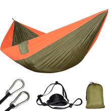 Ultra Large 210T Parachute Hammock Double 2 Person Travel Camping Survival Tree Sleeping Hamaca Terrace Garden Furniture Rede