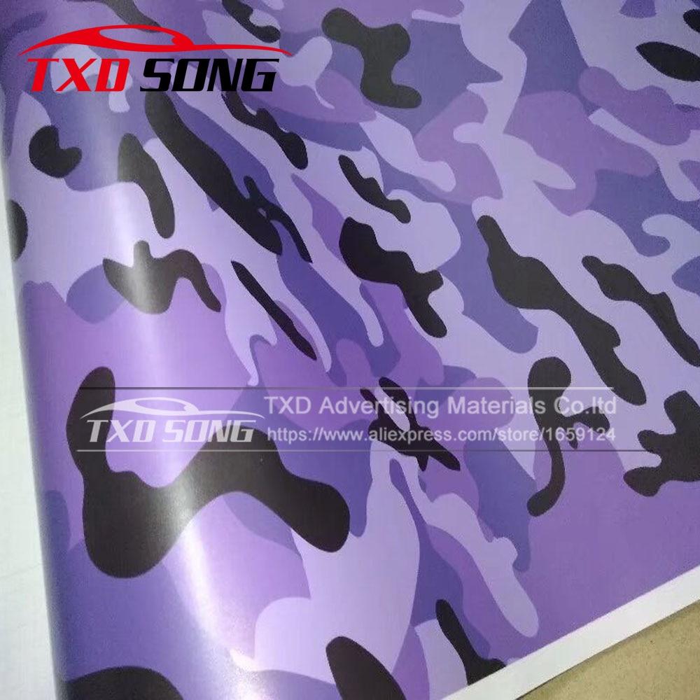 Film de vinyle de Camouflage gris violet noir Film de voiture avec emballage d'autocollant de décalque de moto de véhicule sans bulle d'air