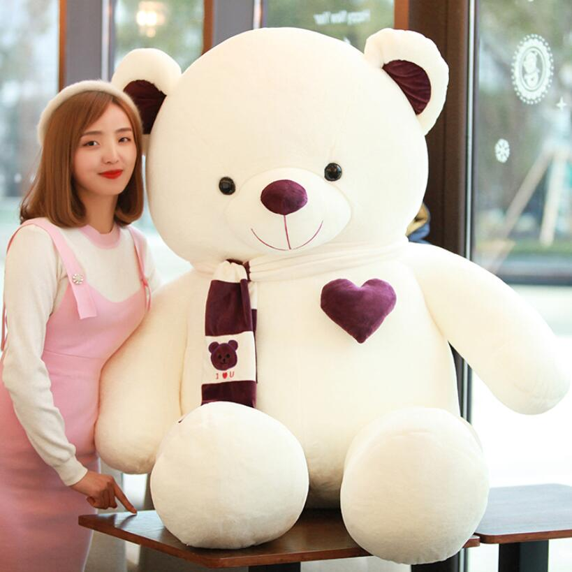 Good quality Plush Toy Full Teddy Bear Stuffed Animal Pink/ Purple/ Orange Hug Bear Valentine's Day Gifts 4 kg fancytrader biggest in the world pluch bear toys real jumbo 134 340cm huge giant plush stuffed bear 2 sizes ft90451