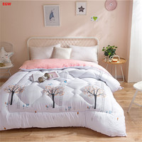 Winter Quilt Tree Printed Comforter Full Queen Size 150 200cm 200 230cm Double Bed Polyester Autumn