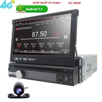 7 Universal 1din AutoRadio Android 7 1 Car DVD Multimedia Player For BMW GPS Navigation Wifi