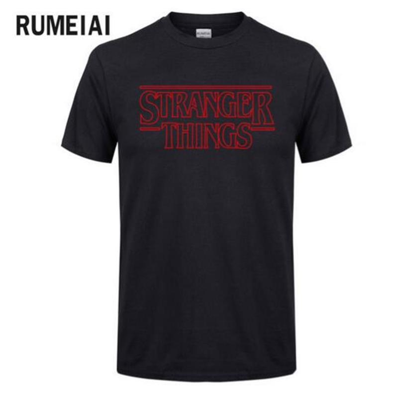 American TV Series Strange Story Surrounding Stranger Things Short Sleeve Cotton T Shirt Men Thriller Funny Cute Tees Casual Top
