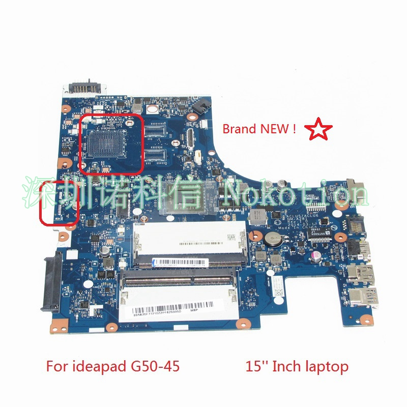 NOKOTION BRAND NEW ACLU5 ACLU6 NM-A281 For lenovo ideapad G50-45 15'' laptop motherboard  E1-Series E1-6010 CPU Mainboard WORKS блеск для губ brand new 2015 3 5 g 6 hz311