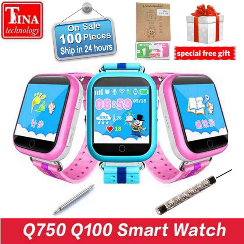 Original <font><b>GPS</b></font> Smart Watch Q750 Q100 Baby Smart Watch With 1.54inch Touch Screen SOS Call Location Device <font><b>Tracker</b></font> for Kid Safe