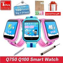 Original GPS Smart Uhr Q750 Q100 Baby Smart Uhr Mit 1,54 inch Touchscreen SOS Anruf Location Device Tracker für Kind sicher