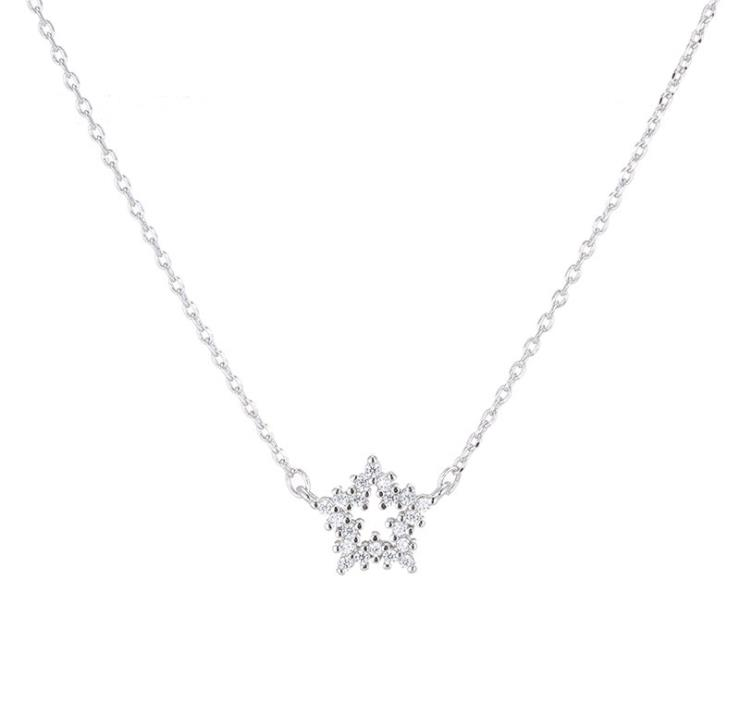 ZTUNG YSP3 925 silver super shiny star necklace a beautiful necklace for your lover