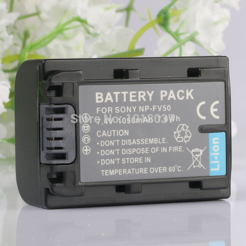 LANFULANG NP-FV50 rechargeable batteries NP FV50 Camera Battery for <font><b>Sony</b></font> HDR-<font><b>CX110</b></font> HDR-CX115 HDR-CX116 HDR-PJ10 HDR-PJ20 image