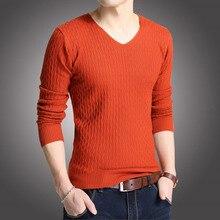 Новая мода весна осень мужской шерстяной пуловер мужские свитера пуловеры
