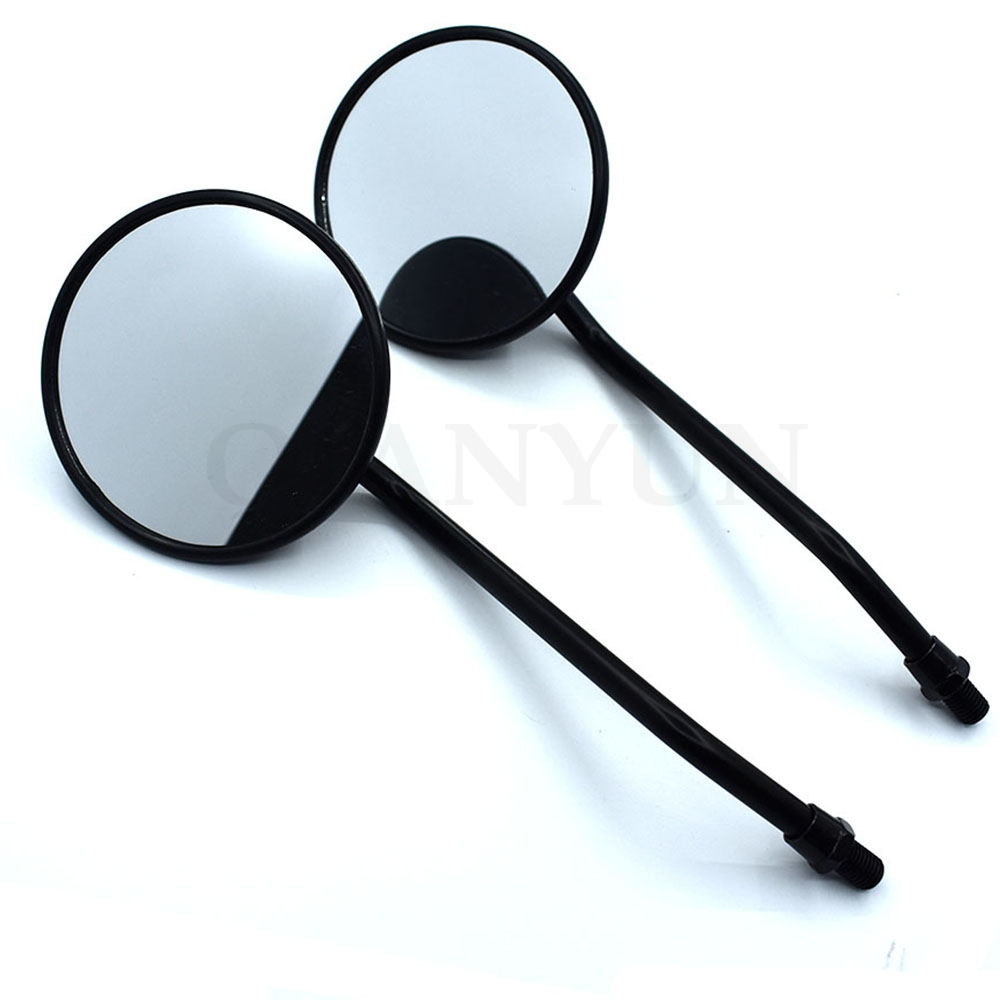 1 Double Circular Motorcycle Mirror Universal 10 Mm Motorcycle Rearview Mirror For Aprilia CAPONORD/ETV1000 RST1000 FUTURA