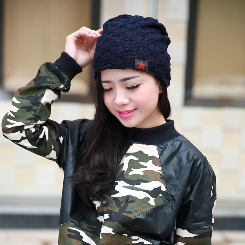 4e0ac2ca5ae Aliexpress.com   Buy Spring Summer women knit hat nice star pattern casual  girl wool cap Pros and cons of dual use lady hedging hat women winter hat  from ...
