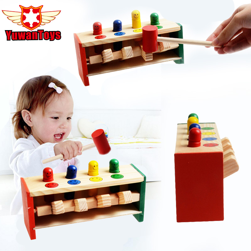 New Classic toys sound maker Wooden toys Whac-A-Mole game Bear Mole Hamster Attack Poke A Mole Kids Game Toy baby children gifts