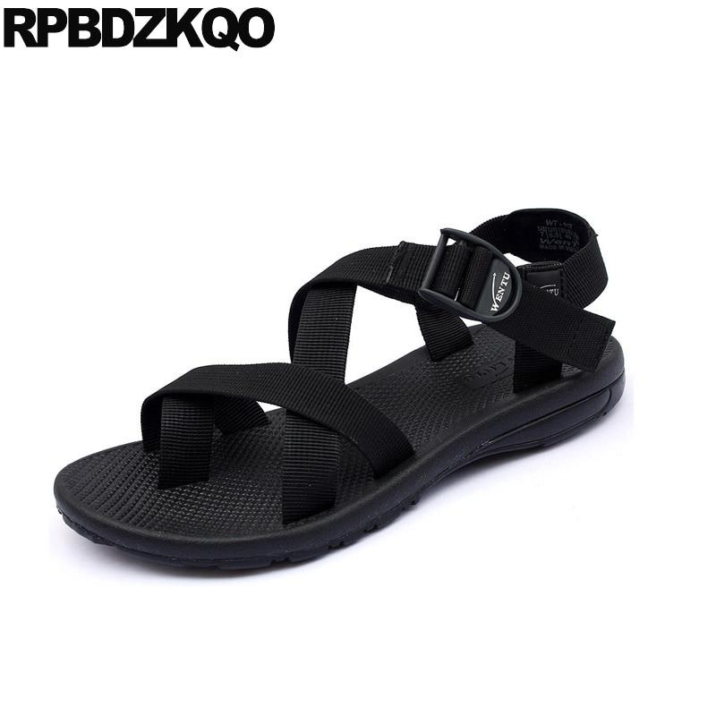 Fashion Summer Men Snadals Shoes Black Closed Toe Non-Slip Water Shoes Sandalies