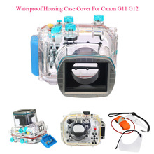 Meikon 40M 130ft Waterproof Housing Case Cover For Canon G11 G12 as WP-DC34,Camera Underwater Diving Bags Case for Canon G11 G12 meikon 40m wp dc44 waterproof underwater housing case 40m 130ft for canon g1x camera 18 as wp dc44