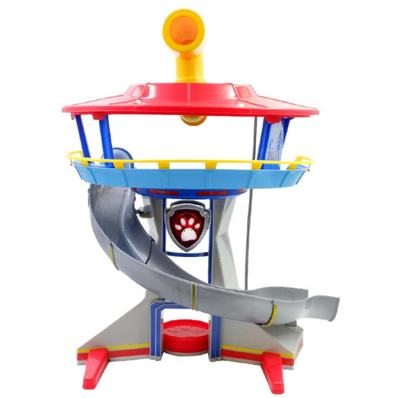 Genuine Paw Patrol Dog Puppy Observation Tower Anime Toys Patrulla Canina Action Figure Model Children Gifts