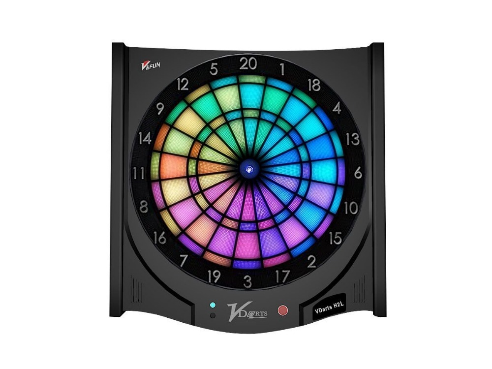 first online LED light  dart board indoor amusement bar game family holiday gift celebrations product VDarts H2L Global Online bohs 2 persons parent child board game family fun recreation
