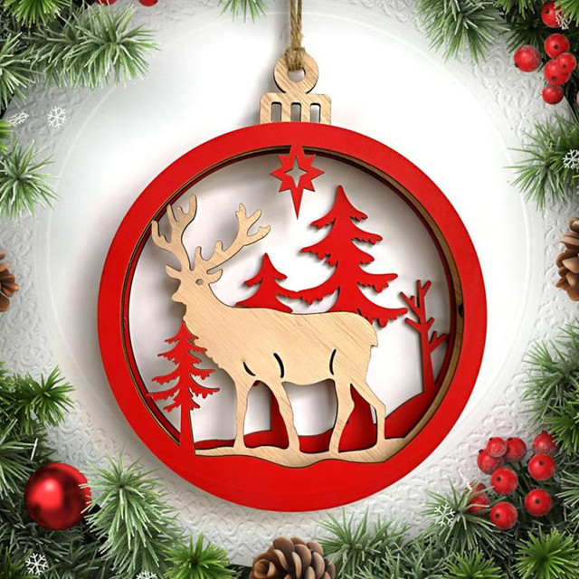 Hanging Christmas Decorations Wall.Us 4 57 11 Off 1pcs Wooden Snowman Deer Letter Old Man Xmas Wedding Tree Hanging Ornament Decor Cabins Gift Wall Hanging Christmas Decoration In