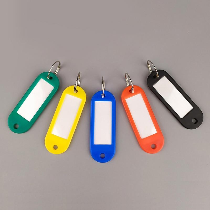 Colorful Key ID Label Tag 50Pcs Key Classification Card Assorted Key Ring Keychain Luggage Tag Hotel Car Classified Card HC-08