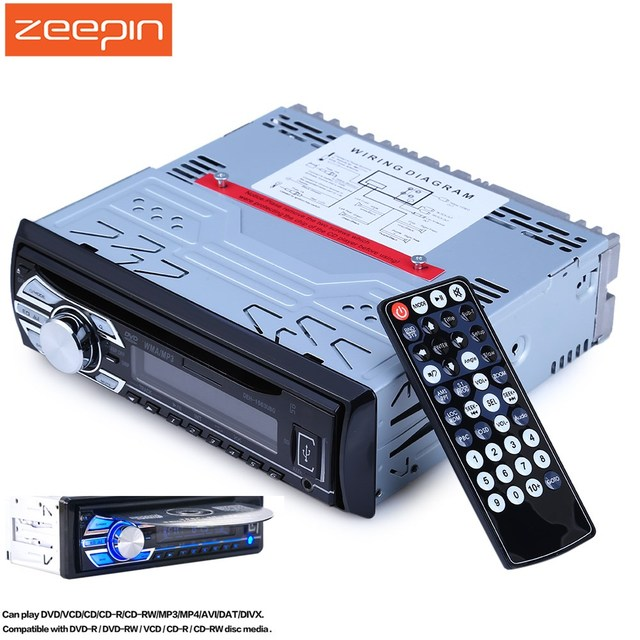 1563U 1 DIN 12V audio Car Mp3 Player Car Radio CD Player Support FM1 FM2  FM3 USB SD Card AUX DVD VCD With Remote Control
