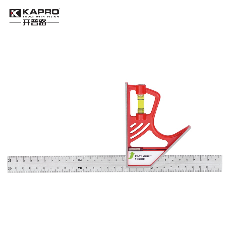 KAPRO Multi functional movable Combination woodworking Tool Universal angle ruler Stainless steel Level Spirit Model 325