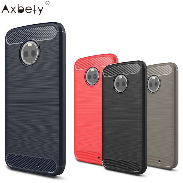 "AXBETY Coque For MOTO X4 Case Fashion Carbon Fiber Ultra Slim silicon Cases For Motorola Moto X4 Cover for MOTO X 4 5.2""case"