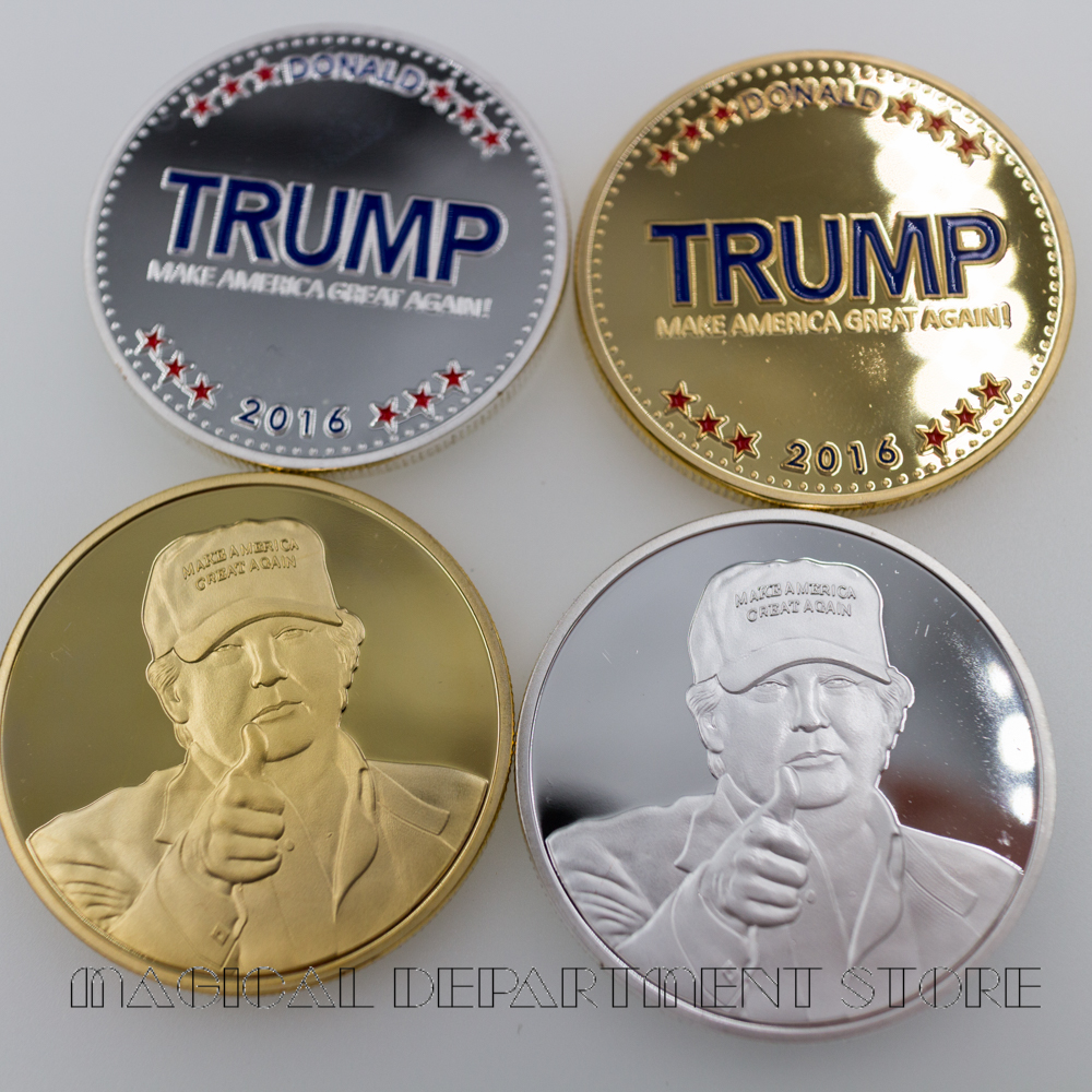 Trump Coin 24k Silver Plated Silver Coin The American Coins Collectible Gifts