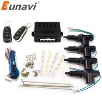 Eunavi Universal Car Remote Control Central Locking Keyless Entry System Car Power Door Lock Actuator 12 Volt Motor (4 Pack)