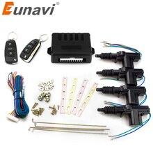 Eunavi Universele Auto Afstandsbediening Centrale Vergrendeling Keyless Entry System Auto Deurslotaandrijving 12 Volt Motor (4 Pack)