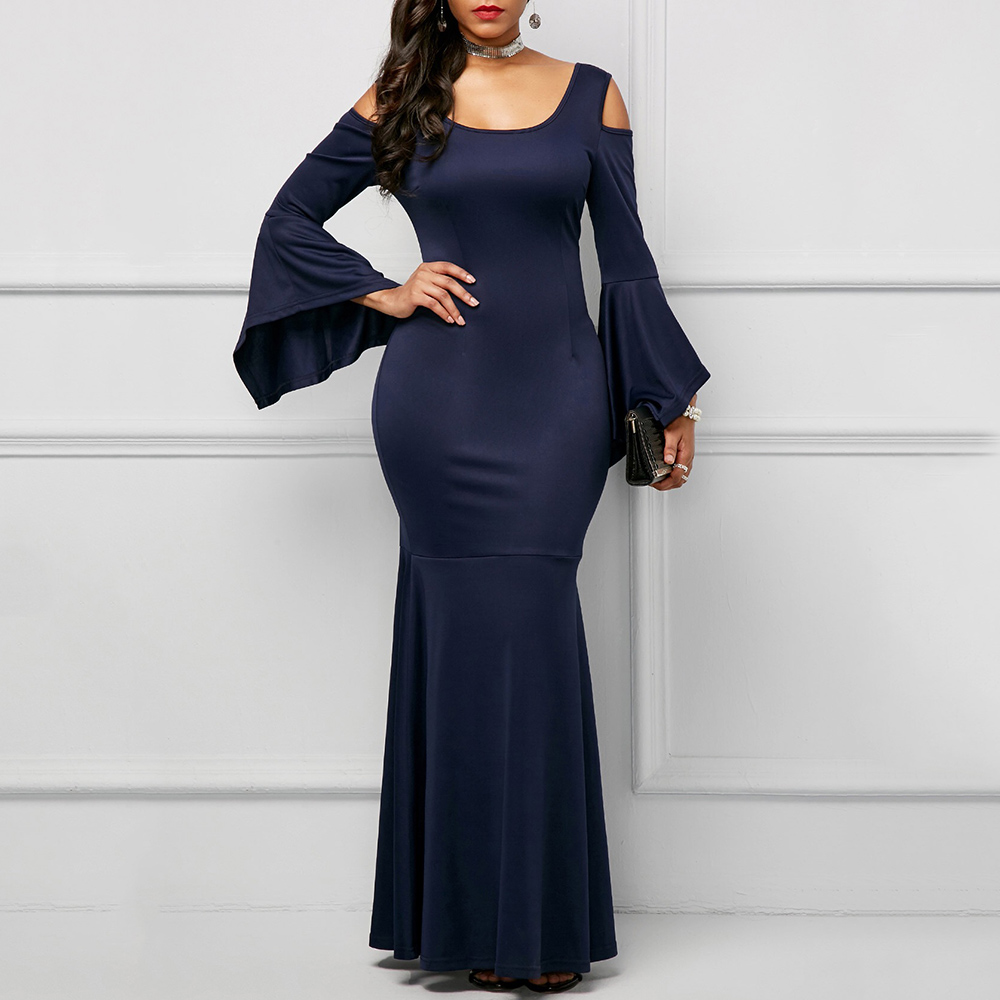 Christmas Dinner Dresses.Elegant Sexy Women Christmas Dinner Dresses Bodycon Flare