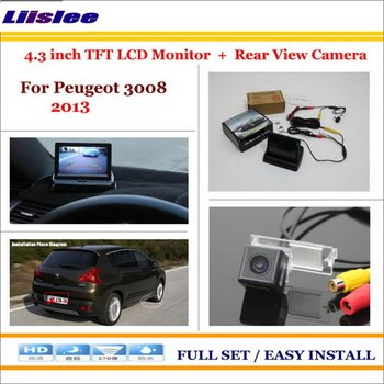 """Car 4.3"""" TFT LCD Monitor Screen For Peugeot 3008 2013 Car Reverse Rear Camera Parking System"""