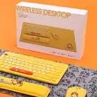 Anime Criativo 4 Pedaço Conjunto de Teclado Mouse Sem Fio Do Mouse Pad Apoio Mão 2.4G Mouse Sem Fio Teclado Para Escritório Em Casa jogos