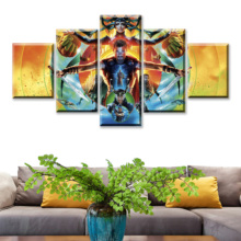 Wall Art Pictures Framework Living Room Home Decorative 5 Pieces Thor Ragnarok Comic Con Poster Top-Rated Canvas Print Painting