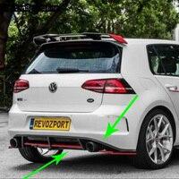 Для Volkswagen Golf7 GTI изменение REVOZPORT Стиль углеродного волокна сзади обвес бампер диффузор только GTI