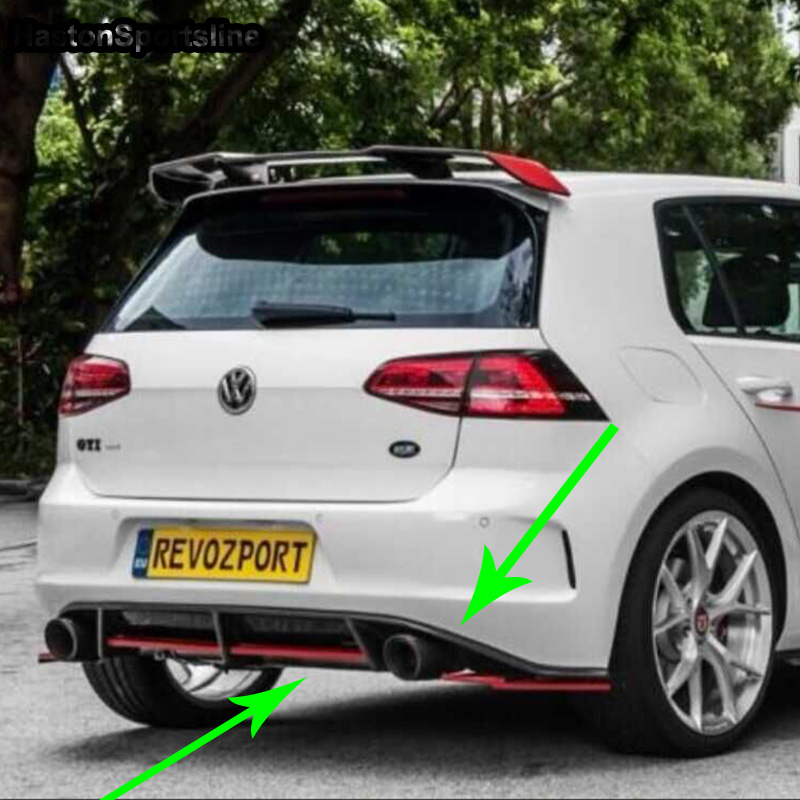 For Volkswagen Golf7 GTI Modified REVOZPORT Style Carbon Fiber Rear Body Kit Bumper Diffuser Only GTI 2007 bmw x5 spoiler