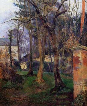 High quality Oil painting Canvas Reproductions Abandoned garden in Rouen (1884)  by Paul Gauguin hand painted