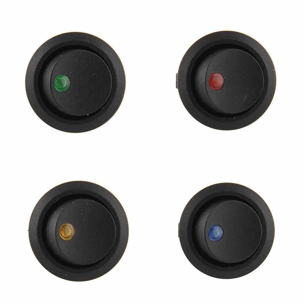 Светодиодный переключатель 3 контакта ВКЛ-ВЫКЛ кулисный переключатель 12 В 20А светодиодный кулисный переключатель светодиодный точечный свет Светодиодная подсветка для автомобиля панель управления лодкой тумблер