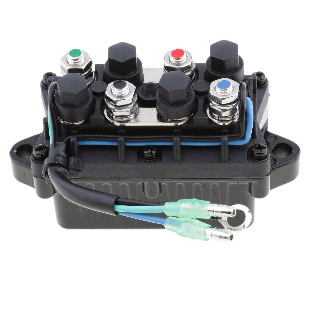 מזגנים 1 יח 2 Trim כוח 12V חוט Plug & ממסר עבור 40-225HP ימאהה 4 Stroke חיצון מנוע וכו Repalce 63P-81950-00-00 (2)