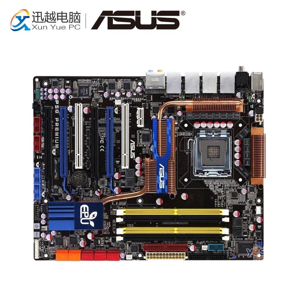 Asus P5Q Premium Desktop Motherboard P45 Socket LGA 775 DDR2 16G SATA2 USB2.0 ATX цена 2017