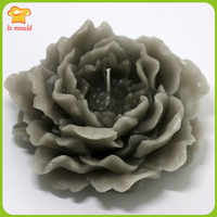 DIY candles of large silicone soap roses mold silicone 3 d rose soaps mold ice sculptures carved salt chocolate moulds