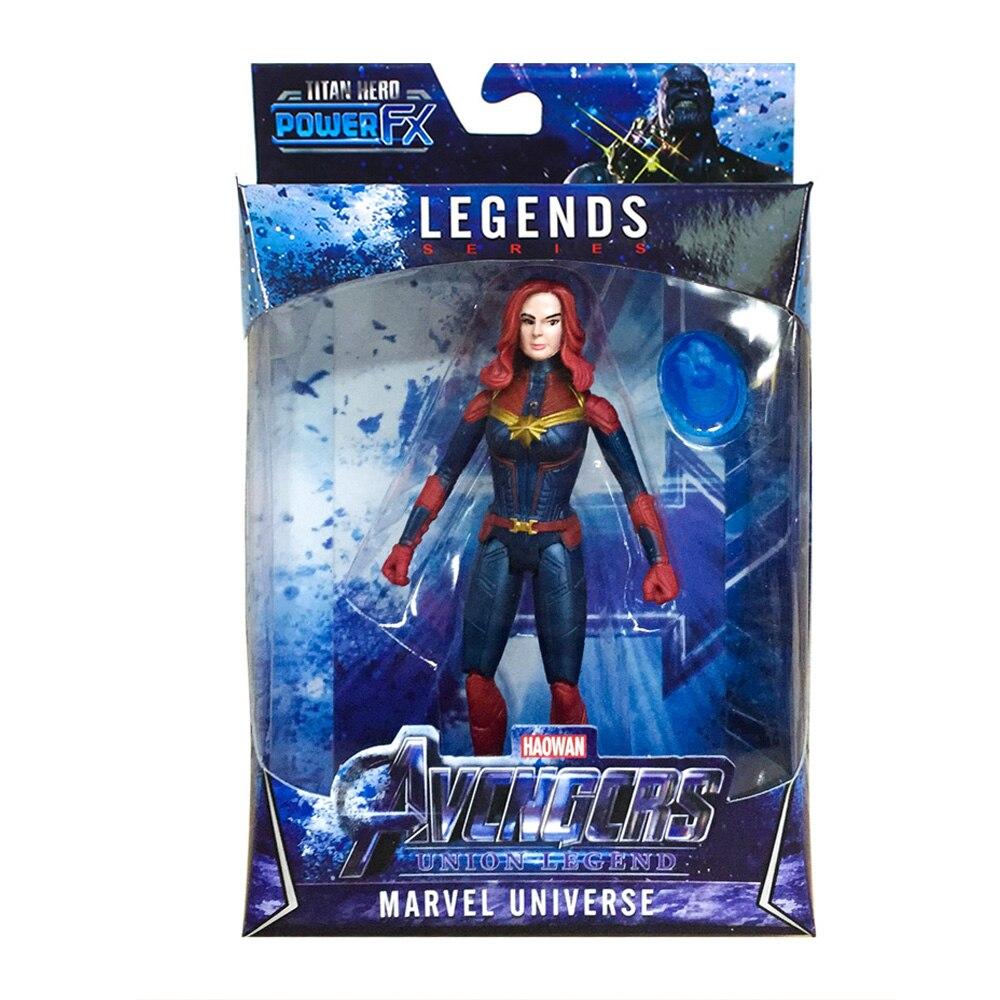 Avengers Infinity War Action Figures Captain Marvel Kids Toys LED 16cm New 2019