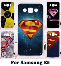Phone Cover For Samsung E5 E500 SM-E500F E500H Cases Multifunction Cool Print Superman America Captain Protective HSG Shell