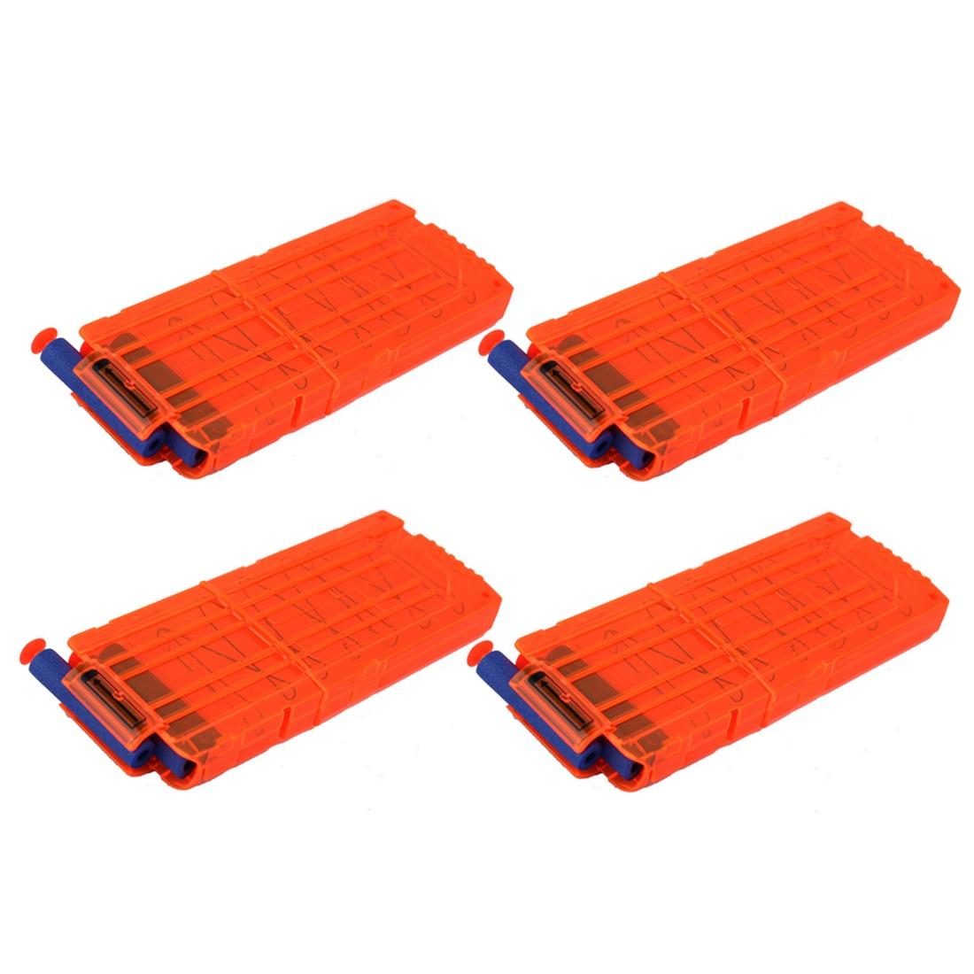 15 pcs/ensemble 12 Recharger Clip Magazines Fléchettes Rondes Remplacement En Plastique Magazines Jouet Pistolet Balle Molle Clip Orange Pour Nerf N -grève