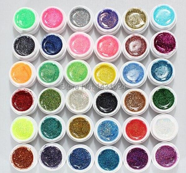 30PCS Colorful Nail Art UV Gel Professional Glitter Powder Nail Gel Nail Polish Nail UV gel set