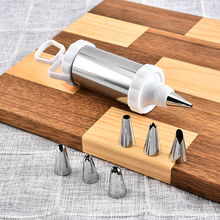 7Pcs/lot Dessert Decorators Stainless Steel Icing Piping Cream Pastry Cookie Decorating Gun 6 Nozzles DIY Cake Tools