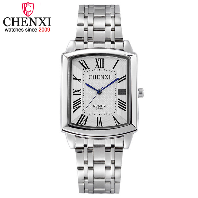CHENXI Brand Fashion Classic Hot Square Dial Couple Lovers Quartz Wristwatch Del