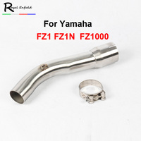 ID:60mm FZ1 Motorcycle Muffler Exhaust Link Pipe Mid Pipe Motorbike Exhaust Muffler Escape Connect Pipe for FZ1 FZ1N FZ1000