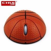 CHYI Basketball Projeto Mouse Sem Fio Óptico USB Ratos Mause PC Computador Portátil Desktop Mini 3D Para Presente do Menino