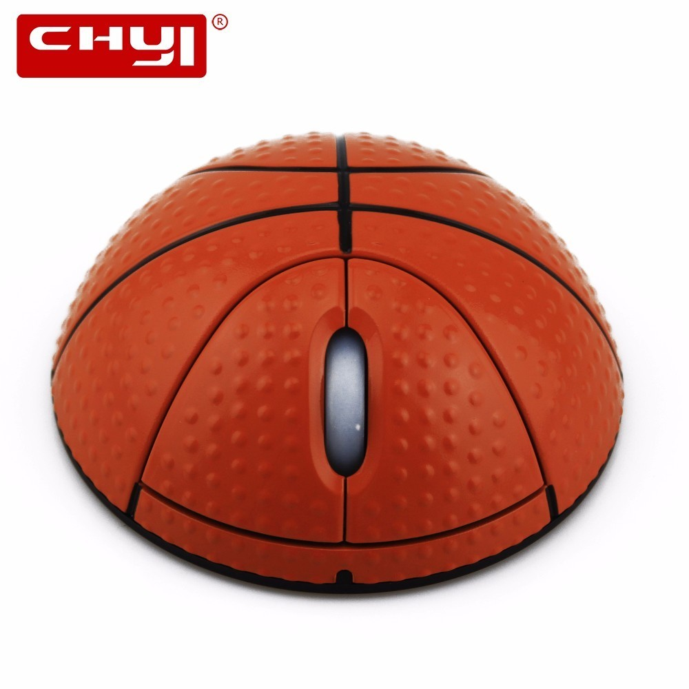 CHYI Wireless Mouse Basketball Design Optical USB Mause Computer PC Laptop Desktop Mini 3D Mice For Boy's Gift