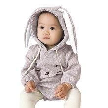22718ced72cb Macacão de Bebê recém-nascido Com Capuz Da Menina do Menino Moletom Com  Capuz de