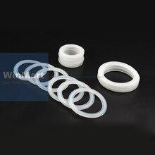 5 шт. санитарно Три зажим силиконовая прокладка 51 мм Труба x 64 мм O/D Тип наконечник фланец уплотнительная прокладка кольцо шайба толщина 4 мм